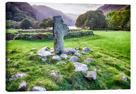 Canvas  Ireland Glendalough Abbey - Jürgen Klust