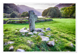 Premium poster Ireland Glendalough Abbey
