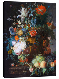 Canvas  Still Life with Flowers and Fruit - Jan van Huysum