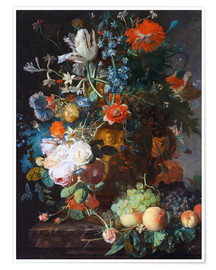 Premium poster  Still Life with Flowers and Fruit - Jan van Huysum
