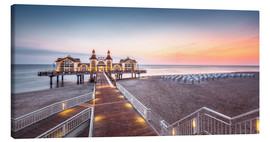 Canvas  Pier Sellin (Ruegen / Baltic Sea) - Dirk Wiemer