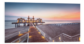 Foam board print  Pier Sellin (Ruegen / Baltic Sea) - Dirk Wiemer