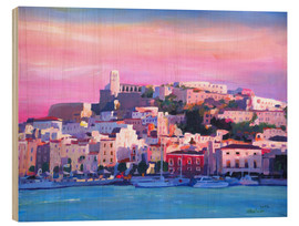 Wood print  Ibiza Old Town and Harbour - Pearl Of the Mediterranean Sea - M. Bleichner