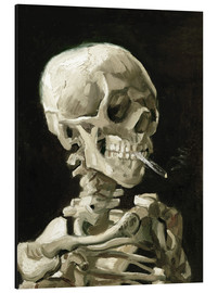 Aluminium print  Skeleton with a burning cigarette - Vincent van Gogh