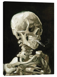 Canvas  Skeleton with a burning cigarette - Vincent van Gogh