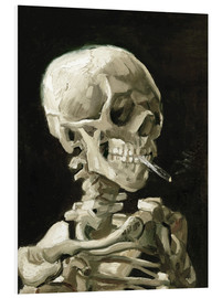 Foam board print  Skeleton with a burning cigarette - Vincent van Gogh