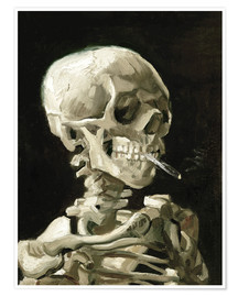 Premium poster  Skeleton with a burning cigarette - Vincent van Gogh