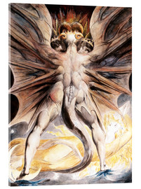 Acrylic print  The great red dragon and the woman with the sun - William Blake
