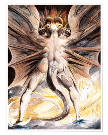 Poster  Clothed The Great Red Dragon and the Woman with the Sun - William Blake