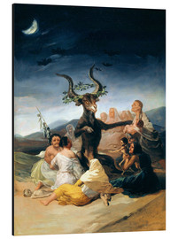 Aluminium print  Witches' Sabbath - Francisco José de Goya