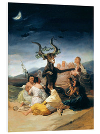 Foam board print  Witches' Sabbath - Francisco José de Goya