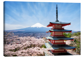 Canvas print  Chureito Pagoda in Yamanashi Japan - Jan Christopher Becke
