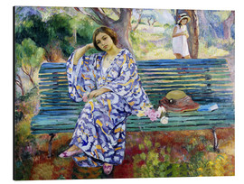 Aluminium print  Young woman sitting on a bench - Henri Lebasque