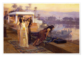 Premium poster  Cleopatra on the terraces of philae - Frederick Arthur Bridgman