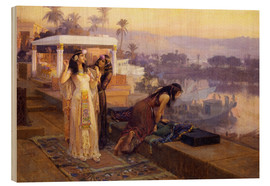 Wood  Cleopatra on the terraces of philae - Frederick Arthur Bridgman