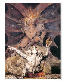 Poster  the number of the beast is 666 - William Blake