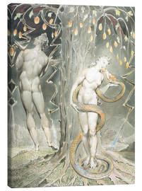 Canvas print  Adam and Eve - William Blake