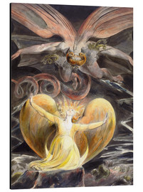 Aluminium print  The great red dragon and the woman clothed with sun - William Blake
