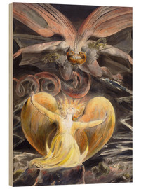Wood  the great red dragon and the woman clothed with sun - William Blake