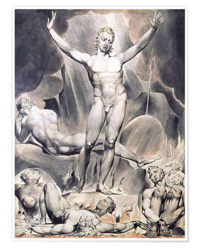 Premium poster satan arousing the rebel angels