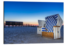 Aluminium print  On the beach of Sankt Peter Ording beach chair - Dennis Stracke