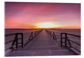 Acrylic print  Long jetty at the beach of St. Peter Ording - Dennis Stracke