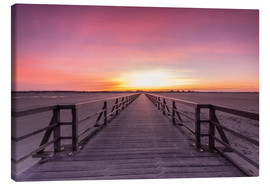 Canvas  Long jetty at the beach of St. Peter Ording - Dennis Stracke