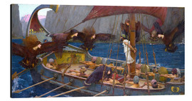 Aluminium print  Odysseus and the Sirens - John William Waterhouse