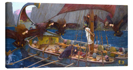 Canvas print  Odysseus and the Sirens - John William Waterhouse