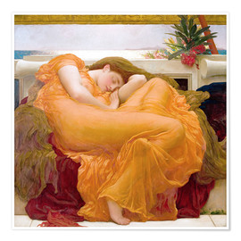 Poster  Flaming June - Frederic Leighton
