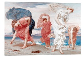 Acrylic print  Greek girls picking up pebbles - Frederic Leighton
