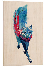 Wood print  Lupus lupus - the wolf - Robert Farkas