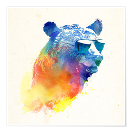 Premium poster Colorful bear