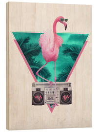 Wood print  Miami Flamingo - Robert Farkas
