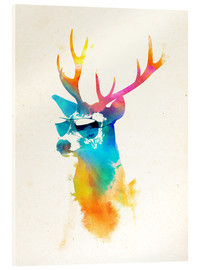 Acrylic print  Colorful deer - Robert Farkas