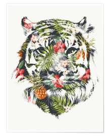 Premium poster Tropical Tiger