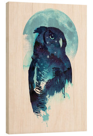 Wood print  Night Owl - Robert Farkas