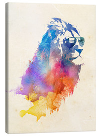 Canvas print  Colorful lion - Robert Farkas