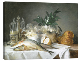 Canvas print  A STILL LIFE OF MACKEREL - Anne Vallayer-Coster