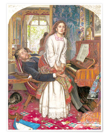 Premium poster  The Awakening Conscience - William Holman Hunt