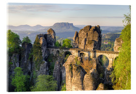 Acrylic print  Bastei Bridge in Saxon Switzerland in the morning - Michael Valjak