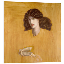 Foam board print  La Donna Della Finestra (The Lady of Pity) - Dante Charles Gabriel Rossetti