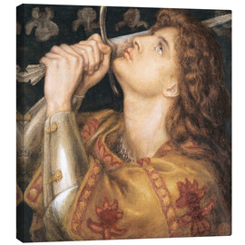 Canvas print  Knight with sword - Dante Charles Gabriel Rossetti