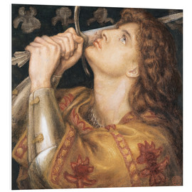Foam board print  Knight with sword - Dante Charles Gabriel Rossetti