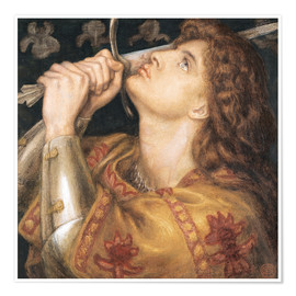 Dante Charles Gabriel Rossetti - Knight with sword