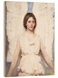 Wood print  Angel - Abbott Thayer