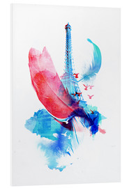 Foam board print  Pigeons of paris - Robert Farkas