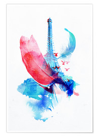 Premium poster  Pigeons of paris - Robert Farkas