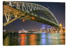 Canvas print  Sydney Harbour Bridge I - Thomas Hagenau