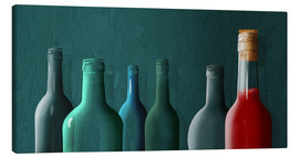 Canvas print  The last full bottle - Monika Jüngling